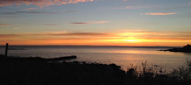 Soluppgång Åland hav