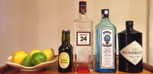 Komponenterna till Gin Tonic
